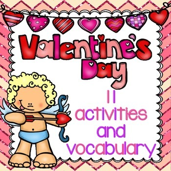 Valentine's Day Activities and Vocabulary Word Wall (inclu
