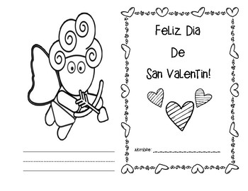 Valentine's Day Vocabulary Booklet - Dia de San Valentin