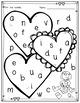 Valentines Day Vowel Recognition Worksheets - Bingo Dot Stampers - vowel dot