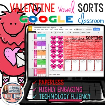 Valentines Day Vowel Sort