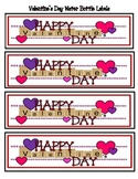 Valentine's Day Water Bottle Labels for Students and Staff