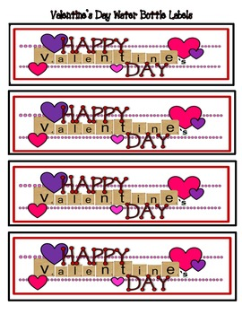 Valentine S Day Water Bottle Labels For Students And Staff By Ms Speez