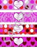 Valentine's Day Water Bottle Labels