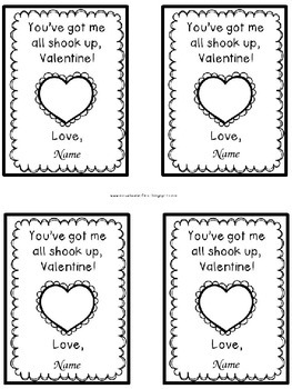 Valentine's Day Water Bottle Tags: Editable!