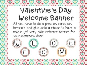 Valentine's Day Welcome Banner