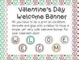 Valentine's Day Welcome Banner