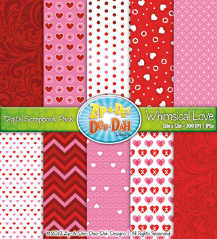 Valentine's Day Digital Scrapbook {Zip-A-Dee-Doo-Dah Designs}