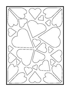 Valentine's Day Window Art