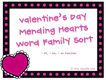Valentine's Day Word Family Match