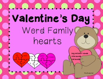 Valentine's Day Word Family Puzzles