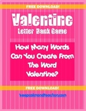 Valentine's Day Word Party Game
