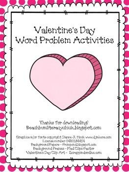 Valentine's Day - Word Problems