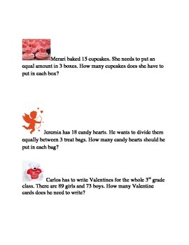 Valentine's Day Word Problems (Differentiated)