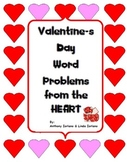 Valentine's Day Word Problems, Pre-Algebra, Standardized Test Type
