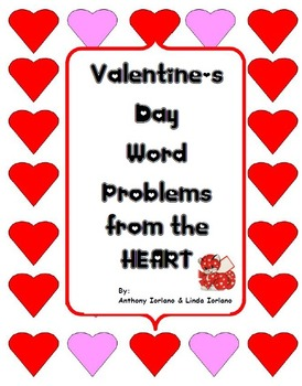 Valentine's Day Word Problems, Pre-Algebra, Standardized Test Type