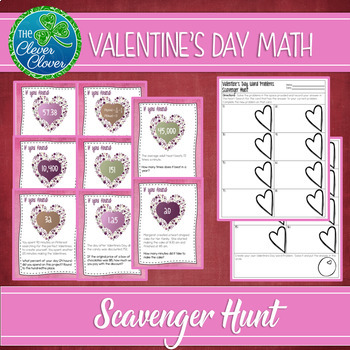 Valentine's Day Math - Scavenger Hunt