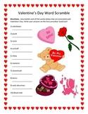 Valentine's Day Word Scramble- 10 Words