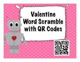 Valentine's Day Word Scramble with QR Codes