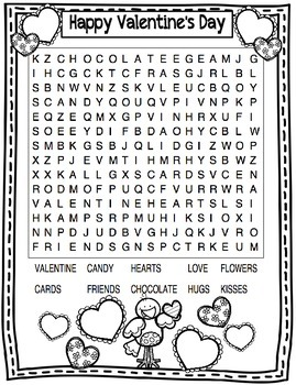 Valentine's Day Word Search Freebie