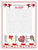Valentine's Day Word Search- Harder 30 Words