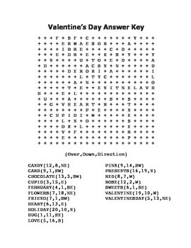 """""""Valentine's Day"""" Word Search – Holiday Fun! (Color and Black Line Versions)"""