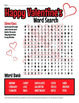 Valentine's Day Word Search Printable Activity