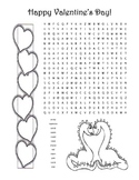 Valentine's Day Word Search Puzzle / 2nd Grade