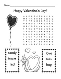 Valentine's Day Word Search Puzzle / 1st Grade