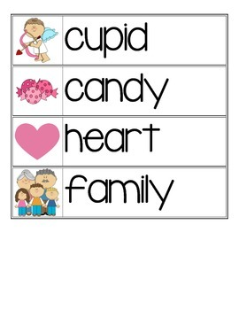 Valentine's Day Word Wall Cards