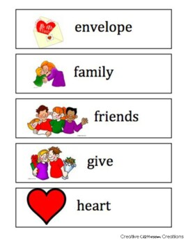 Valentine's Day Word Wall Words