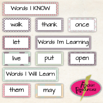 Valentines Day Word Wall Words (Digital & Printable) Dolch Sight Words 1st Grade