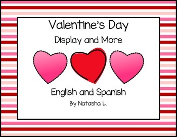 Valentine's Day Word Wall and Activities PK-1 (English & Spanish)