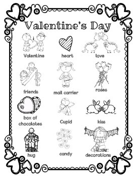 Valentine's Day Word Wall for Daily 5 Portfolios, Journals, Writing Center