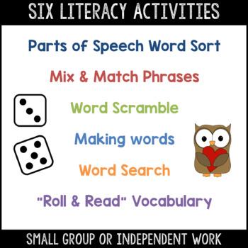 Valentine's Day Word Work & Literacy Activity Packet