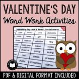 Valentine's Day Word Work Activity Packet