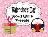 Valentine's Day Word Work Freebie