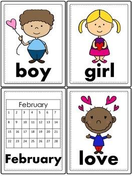 Valentine's Day Word Work- Literacy Center