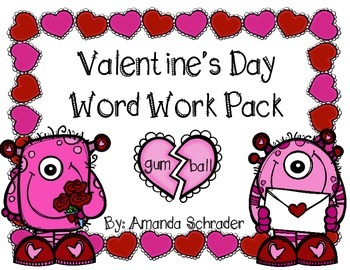 Valentine's Day Word Work Pack