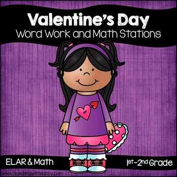 Valentine's Day Word Work and Math Stations