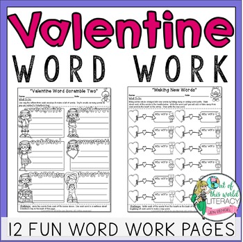 Valentine's Day Word Work for Big Kids