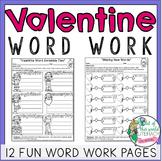 Valentine's Day Word Work for Big Kids