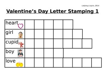 Valentine's Day Words Letter Stamping