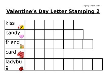 Valentine's Day Words Letter Stamping 2