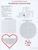 Valentine's Day Wordsearch Crossword Maze