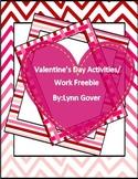 Valentine's Day Work Pack Morning Work