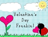 Valentine's Day Worksheet Freebie!