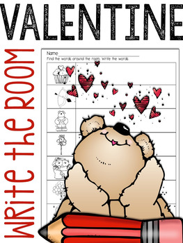 Valentine's Day Write The Room: A Writing Station Activity