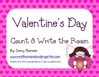 Valentine's Day Write and Count the Room