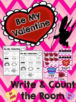 Valentine's Day Write and Count the Room Express Pack