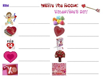 Valentine's Day - Write the Room Activity